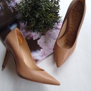 Sam Edelman Hazel tan nude pointed toe heels sz 6